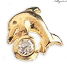 Twinkles Zahnschmuck Weissgold Delphin Gold mit Diamant